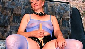 Matured tough gal is holding this dildo essential her hand acting very unmanageable